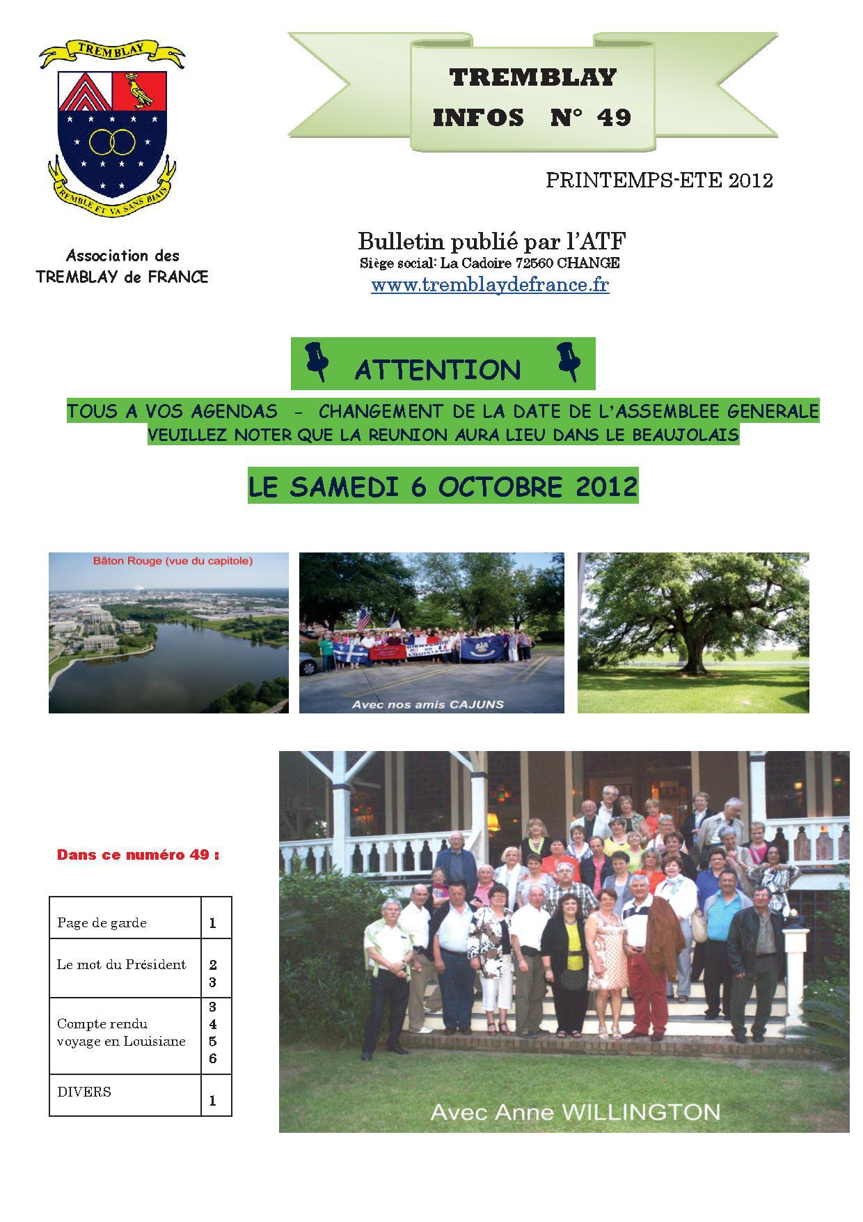 PRINTEMPS - ETE 2012